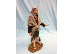 Elemosinante arabo con movimento  - Presepi Pigini  cm 30