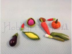 Ortaggi assortiti (10 pezzi) - cm. 1/1,5 - Presepi Pigini