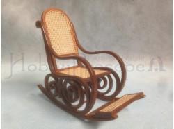 Sedia a dondolo in legno - Casa Bambole