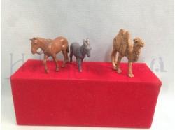 Animali: cavallo, asino e cammello - Landi 6 CM