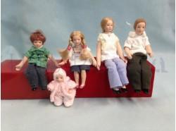 Famiglia moderna in jeans - Casa Bambole