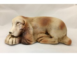 Cane che dorme in terracotta cm 16