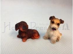 Cani - coppia - altezza cm. 3