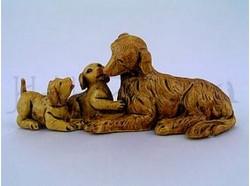 Famiglia di  cani - Fontanini - per statue di cm.12 .