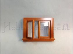 Finestra a due ante apribile in legno. Scala 1:12 Casa Bambole