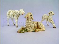 Famiglia di  pecore - Fontanini - per statue di cm.12 .