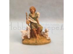 Pastore con pecore - Fontanini cm 9,5