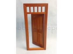 Porta apribile in legno verniciato. Scala 1:12- Casa Bambole