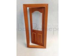 Porta apribile in legno. Scala 1:12 - Casa Bambole