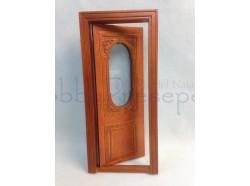 Porta apribile in legno. Scala 1:12 Casa Bambole