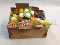 Bancarella di frutta e verdura - altezza cm 7,0