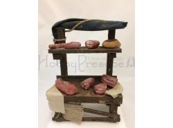 Bancarella di salumi in terracotta - cm 10 Melù