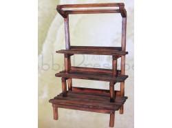 Bancarella in legno - altezza cm 24 - Presepi Pigini