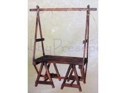 Bancarella in legno - Presepi Pigini -  altezza cm 43