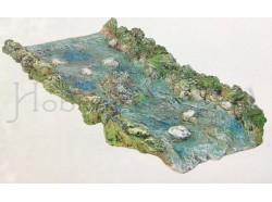 Fiume dritto - Presepi Pigini - dimensioni cm 70x30
