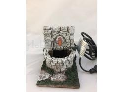 Fontana in resina con pompa cm 13,5 x 10,5