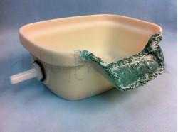 Vasca di uscita per l\'acqua  (con tubo di raccordo) - Presepi Pigini -  cm 19x16