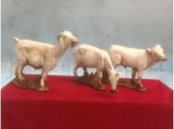 Animali - due capre e un vitello Landi cm.10