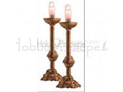 Candelieri - coppia - per statue da cm 10 - Presepi Pigini