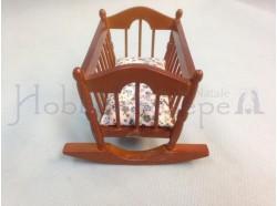 Culla a dondolo in legno - Casa Bambole