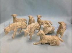 Pecore brunate  assortite 8 pz