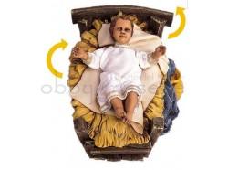 Gesù Bambino con movimento proporzionato alle statue cm 80 - Presepi Pigini