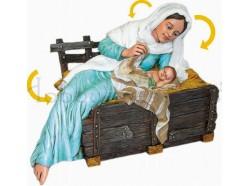 Madonna con Gesù Bambino - Presepi Pigini cm 30