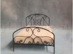Letto in ferro con materasso in tessuto - Casa Bambole