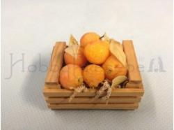 Cassetta con arance in cera - cm. 5x4
