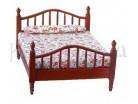 Letto con  materasso e cuscino - Casa bambole