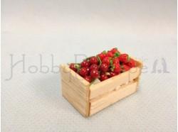 Cassetta in legno con frutta -  cm 3,4 x 2 x 1,5 h