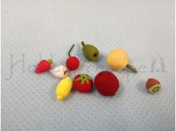 Frutti assortiti (10 pezzi) - cm 1/1,5