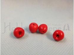 Mela rossa (4 pezzi) - diametro cm. 1