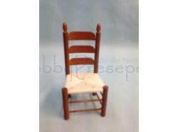 Sedia per cucina in legno: Scala 1:12 Casa Bambole