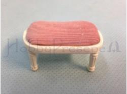 Sgabellino in legno e velluto rosa - Casa Bambole