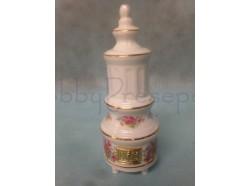 Stufa in porcellana fiori rosa - Casa bambole