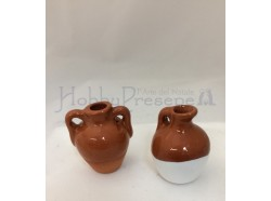 Anfora in terracotta smaltata - set 2 pz.