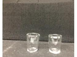 Bicchiere in vetro altezza cm. 1 - 2 pz.