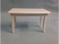Tavolino in legno laccato bianco - Casa Bambole