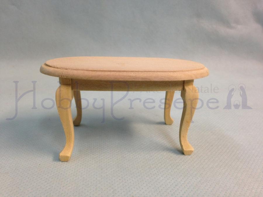Legno Grezzo Chiaro : Tavolino casa bambole