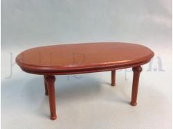 Tavolino ovoidale in legno Casa Bambole