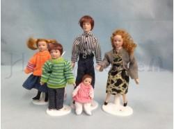 Famiglia moderna Casa Bambole