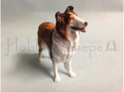 Cane collie in materiale sintetico - statue cm 12
