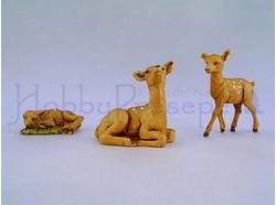 Famiglia di  daini - Fontanini - Per statue di cm. 12
