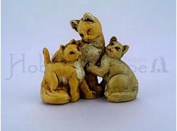 Famiglia di  gatti - Fontanini - Per statue di cm. 12 .