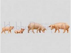 Famiglia di maiali - Fontanini  - per statue di cm. 12 .