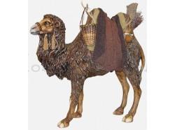 Cammello in piedi con finimenti beduini - Presepi Pigini cm. 30