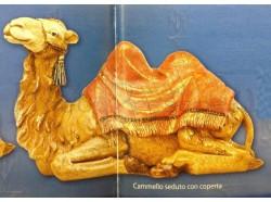 Cammello seduto con coperta-  Fontanini 45 CM