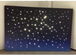 Cielo luminoso  - Led con fibra ottica cm.60 x 40