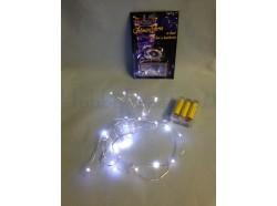 Filo 40 LED a batteria bianco caldo